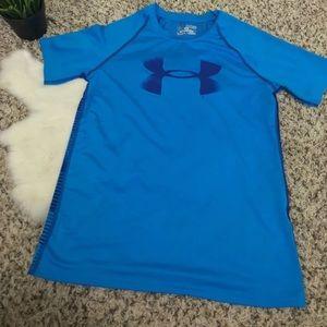 Heat Gear Boy Sport T-Shirt Athletic Sz: YXL